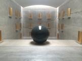 walter de maria - almost like in church this granite ball of 2.2m diameter was truly impressive