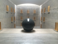 walter de maria - almost like in church this granite ball of 2.2m diameter was truly impressive